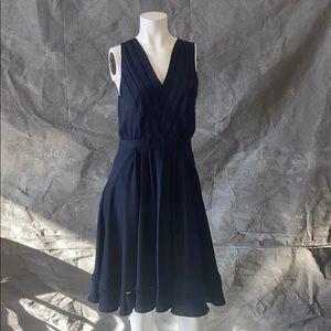 Navy sleeveless banana republic dress, size 6